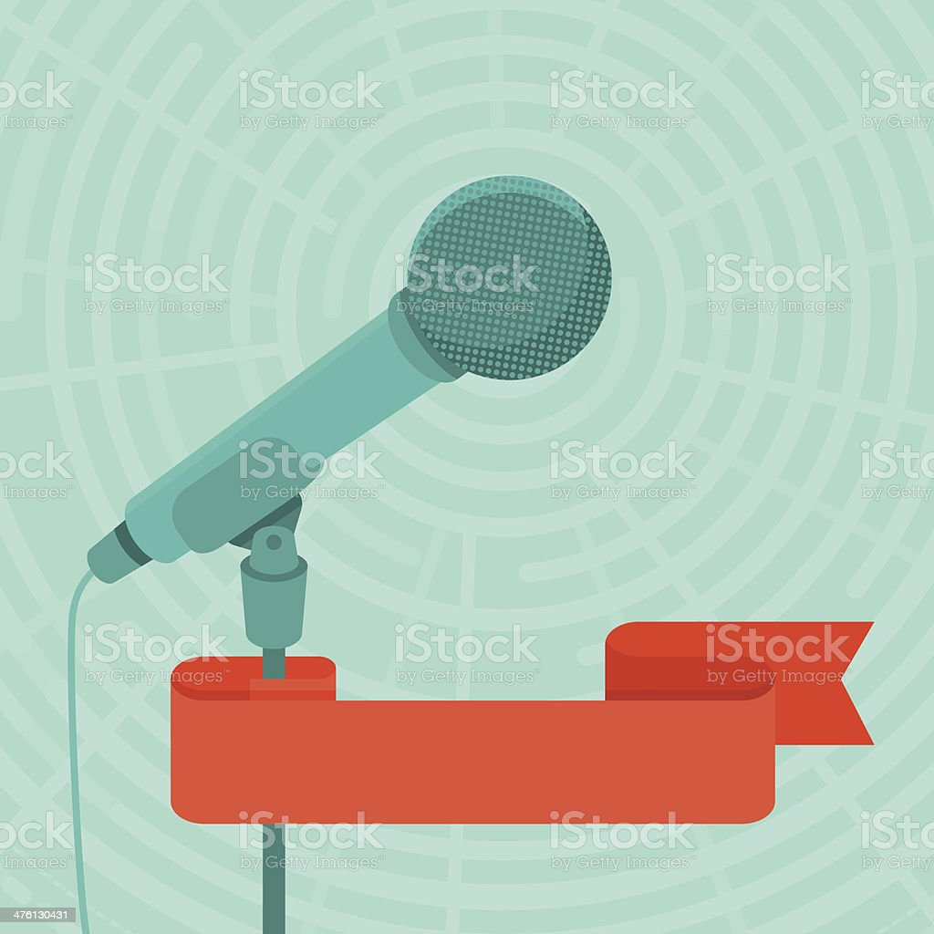 Business conference and public speaking concept vector art illustration