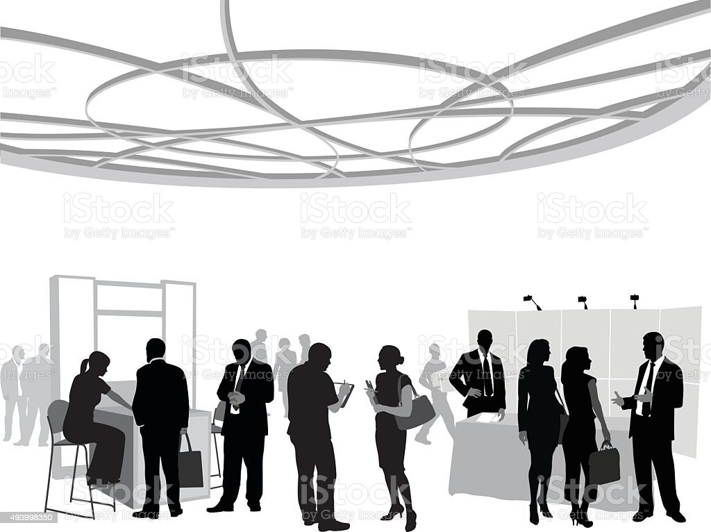 Business Conference Team vector art illustration