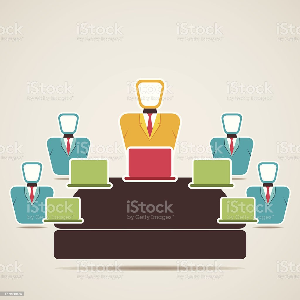 business conference royalty-free stock vector art