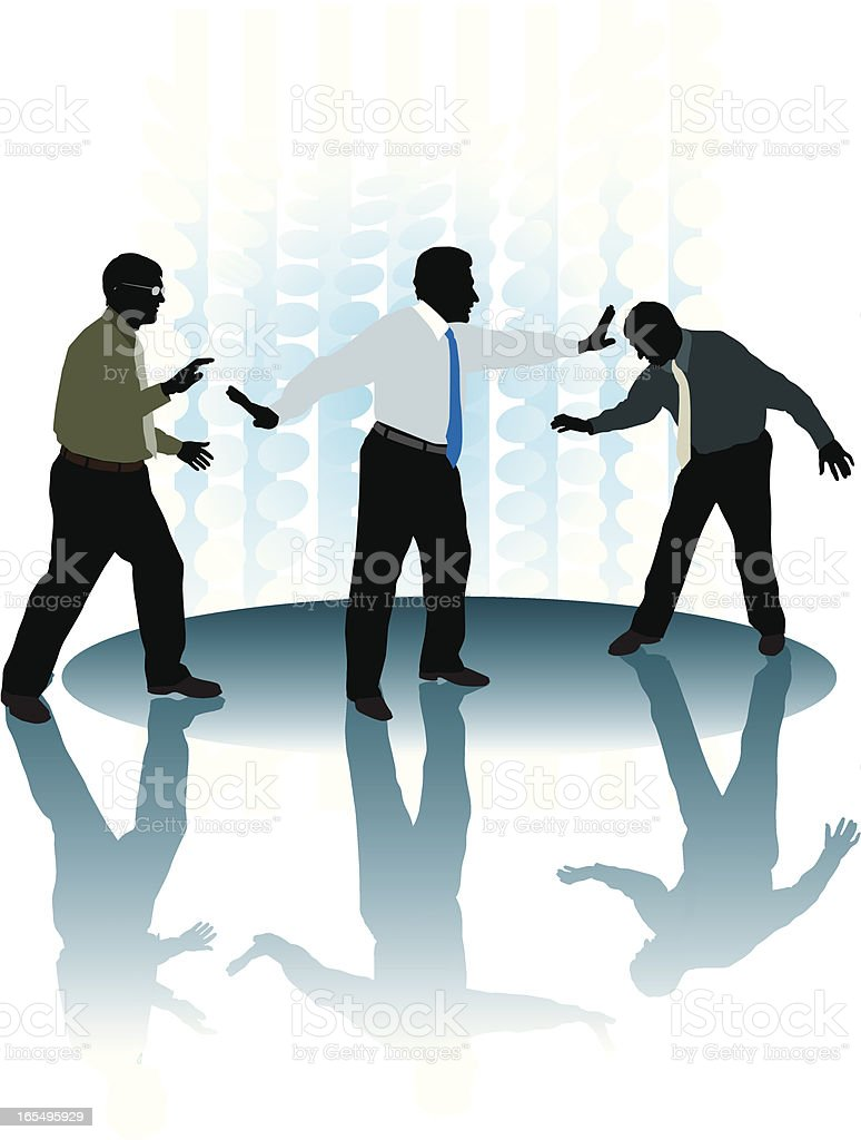 Business Conflict - Men Fighting, Disagreement royalty-free stock vector art