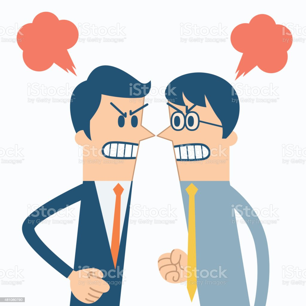 business conflict vector art illustration
