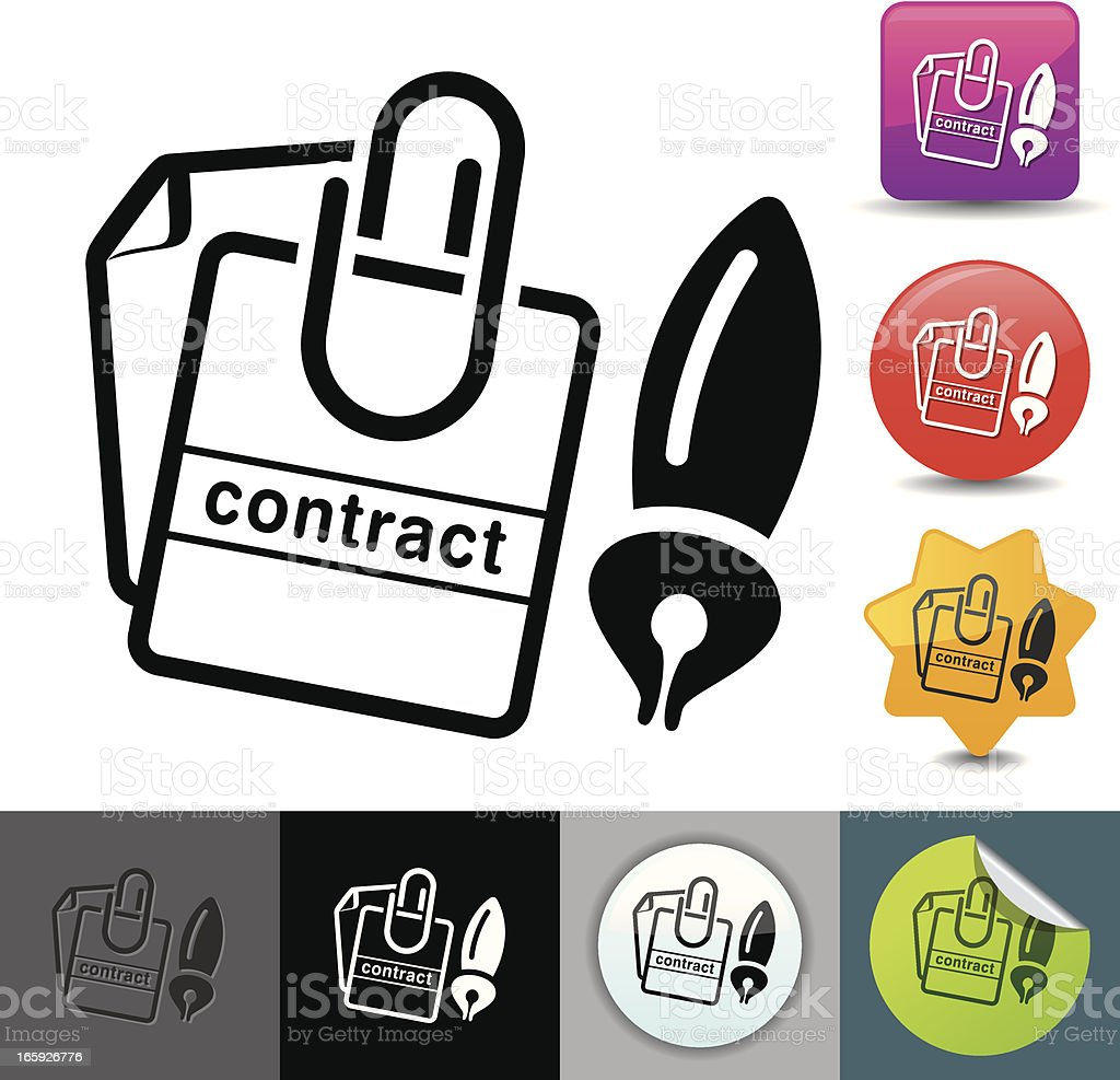 Business contract icon | solicosi series royalty-free stock vector art