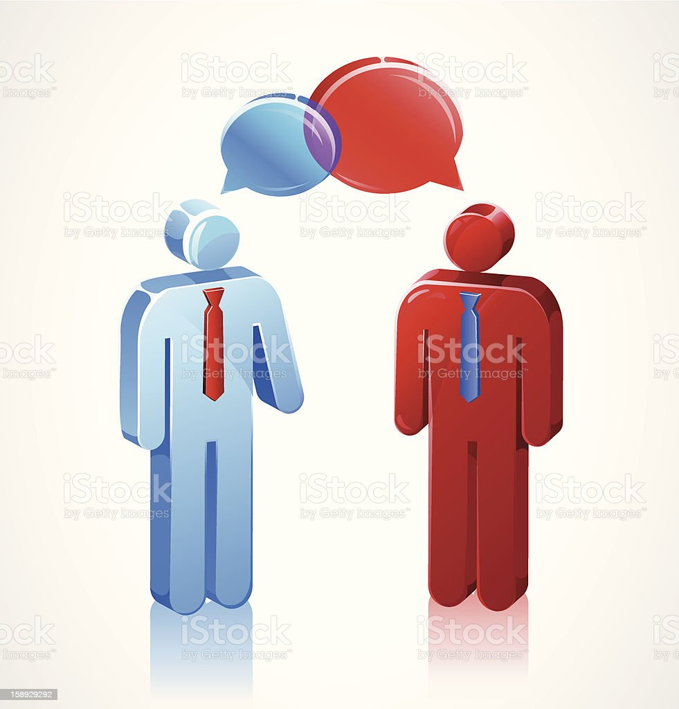 Business Conversation Stick Icons royalty-free stock vector art