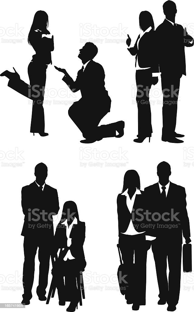 Business couple romantically involved royalty-free stock vector art