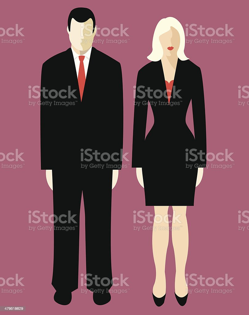 Business couple (vector & jpg) royalty-free stock vector art