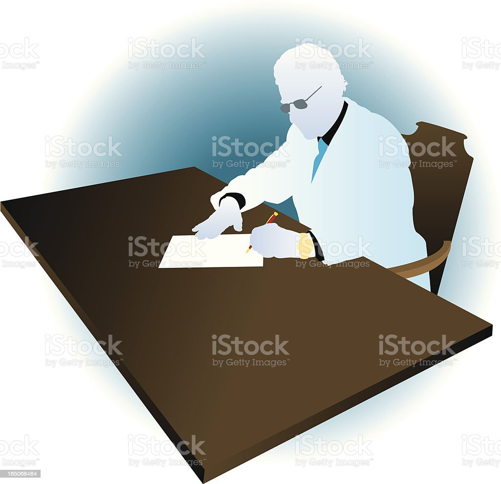 Business Deal - Signing Paper or Contract royalty-free stock vector art
