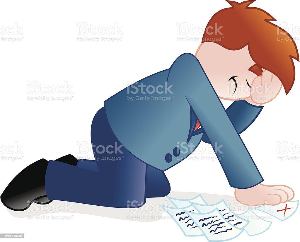 Negocios-derrotados, mala negociación - ilustración de arte vectorial