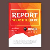 Business design triangle colorful background. Pins and graph infographic, cover