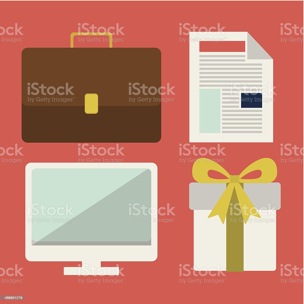 Business Design vector art illustration