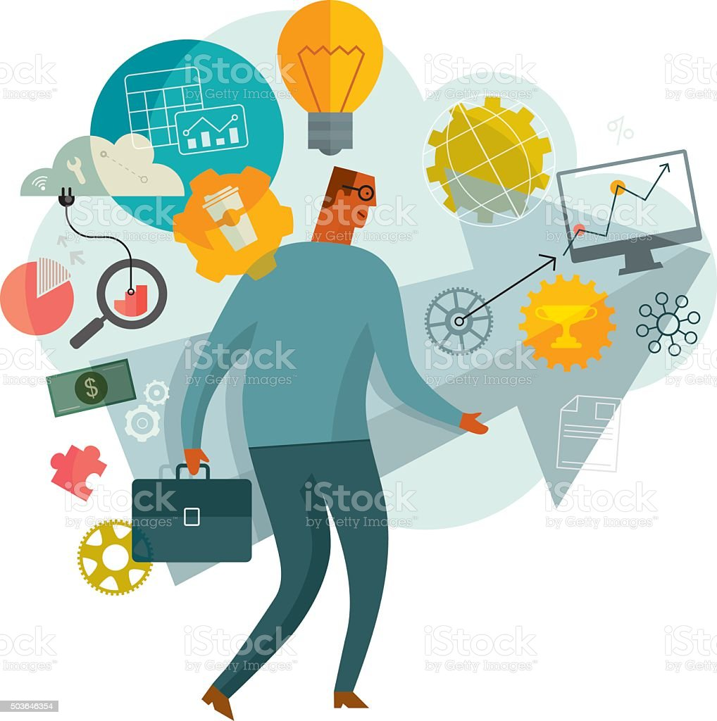 Business Direction vector art illustration