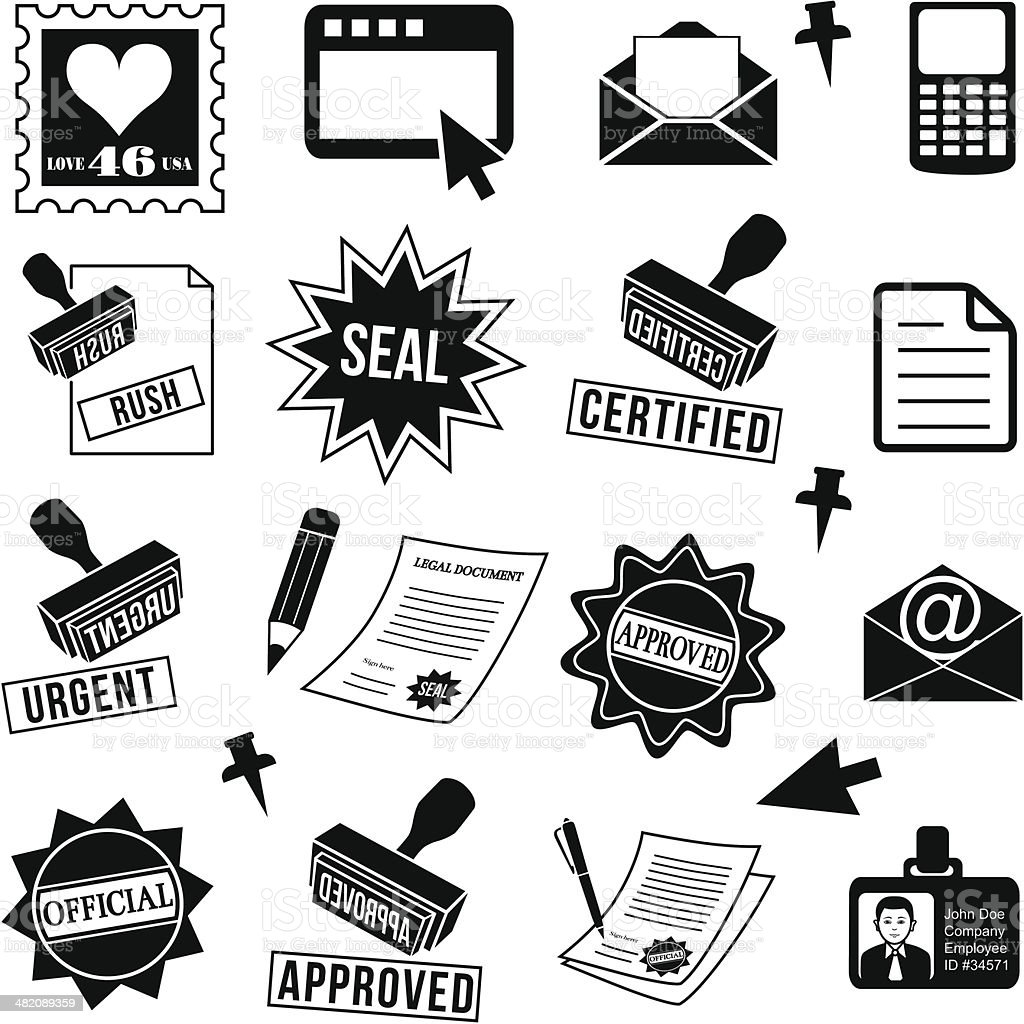 business documents design elements royalty-free stock vector art