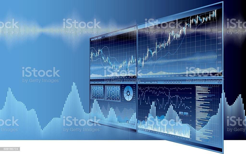 Business Economics image vector art illustration
