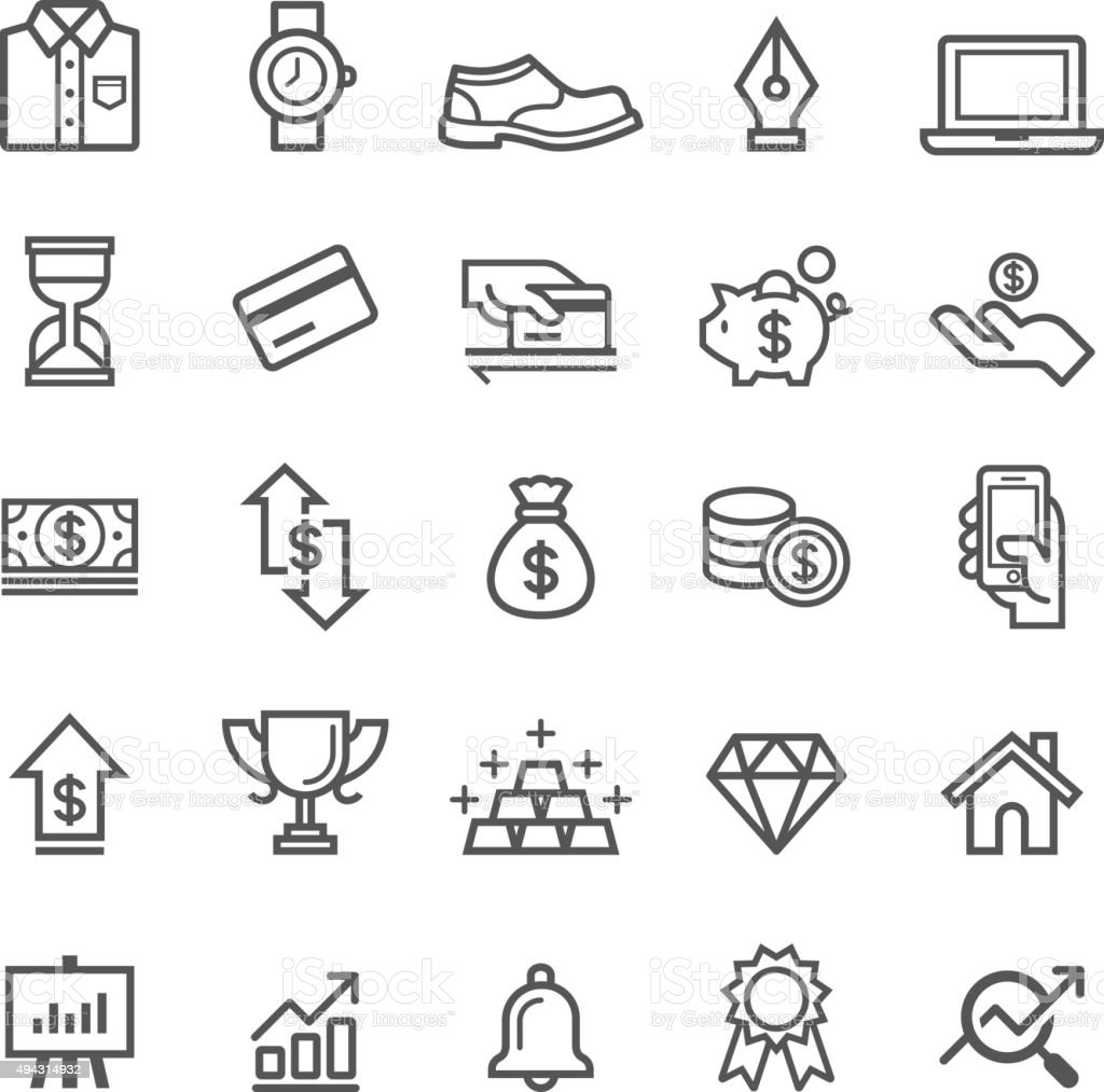 Business element icons. vector art illustration