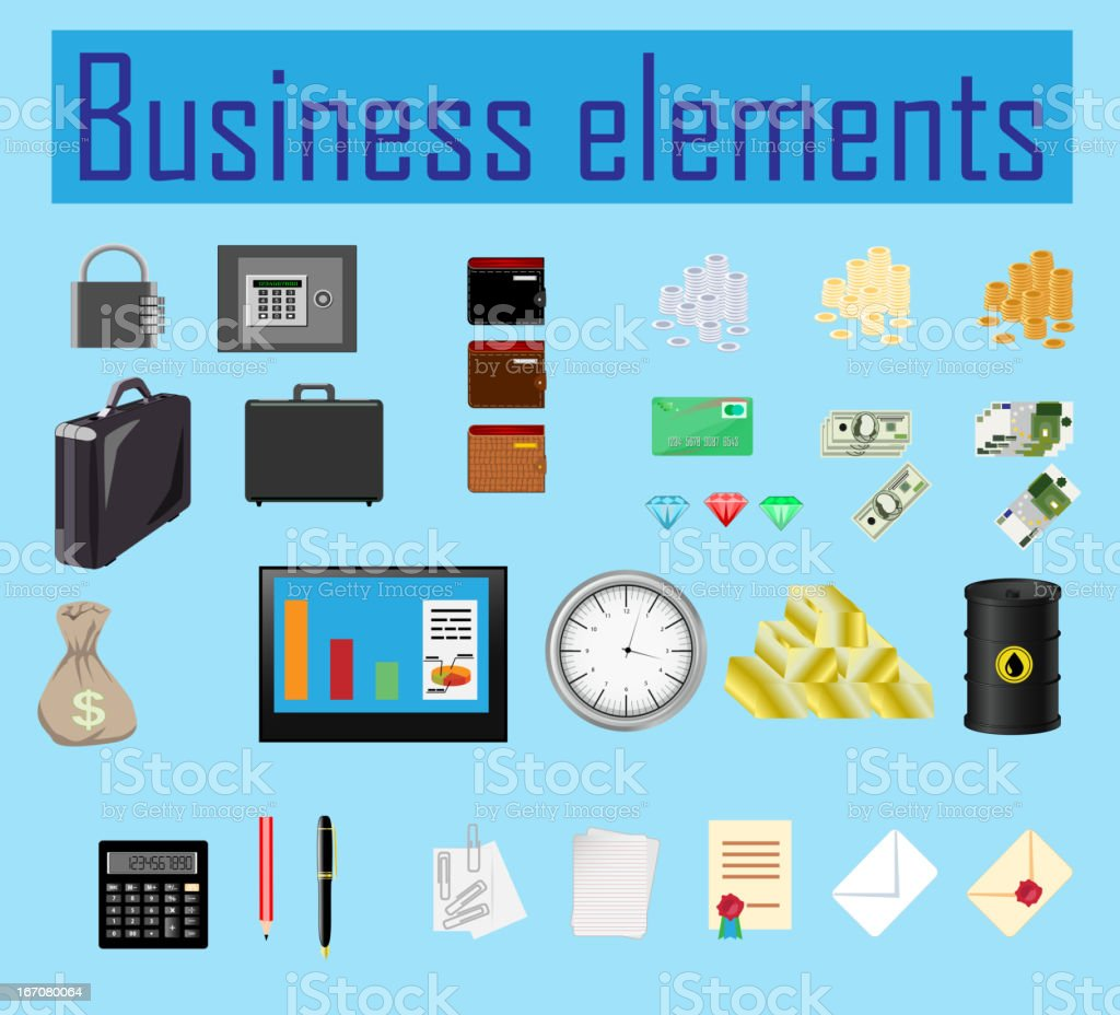 business elements royalty-free stock vector art