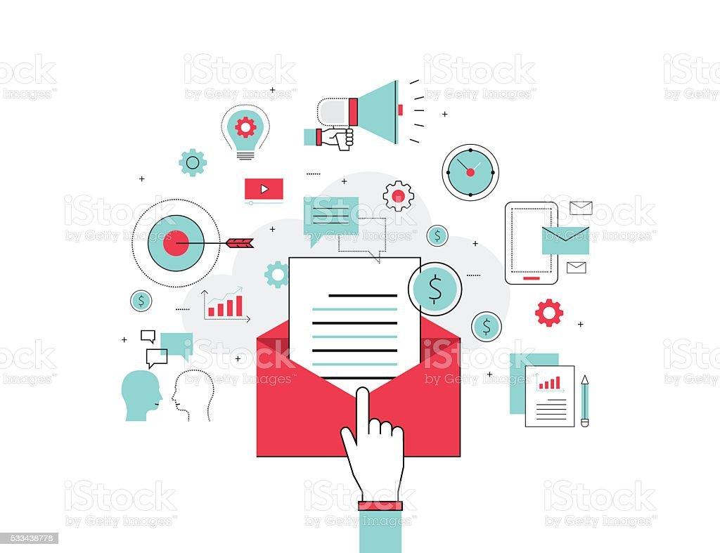 business email marketing concept vector art illustration