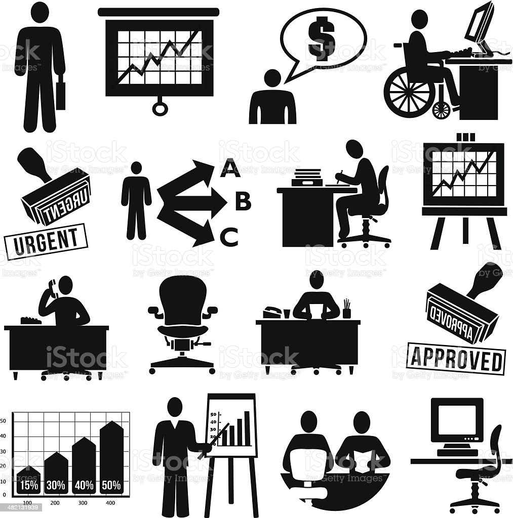 business employees vector art illustration