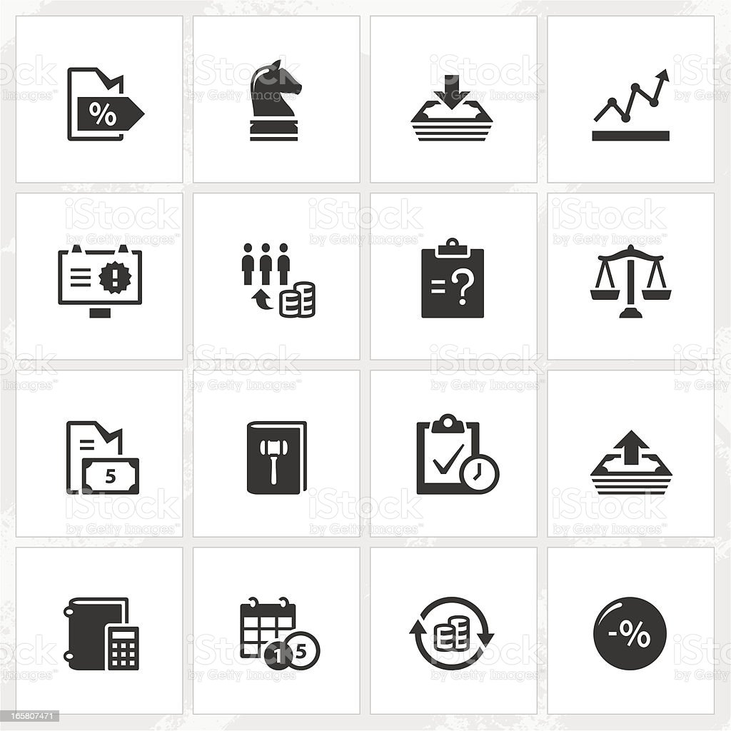 Business Enterprise Icons vector art illustration