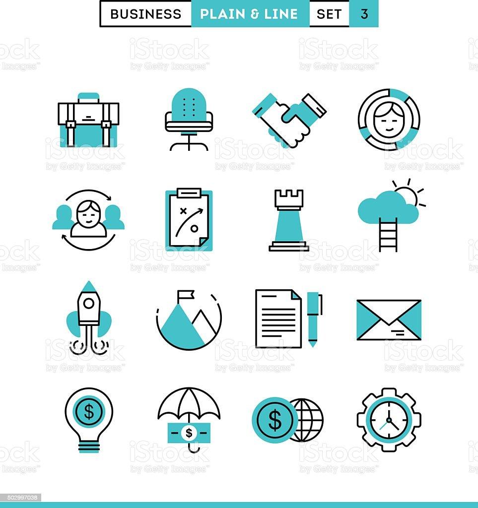 Business, entrepreneurship, teamwork, goals and more vector art illustration