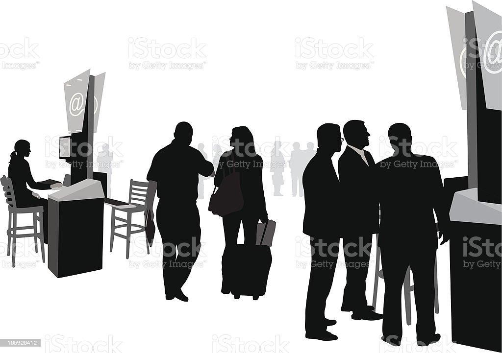 Business Equipment Vector Silhouette vector art illustration