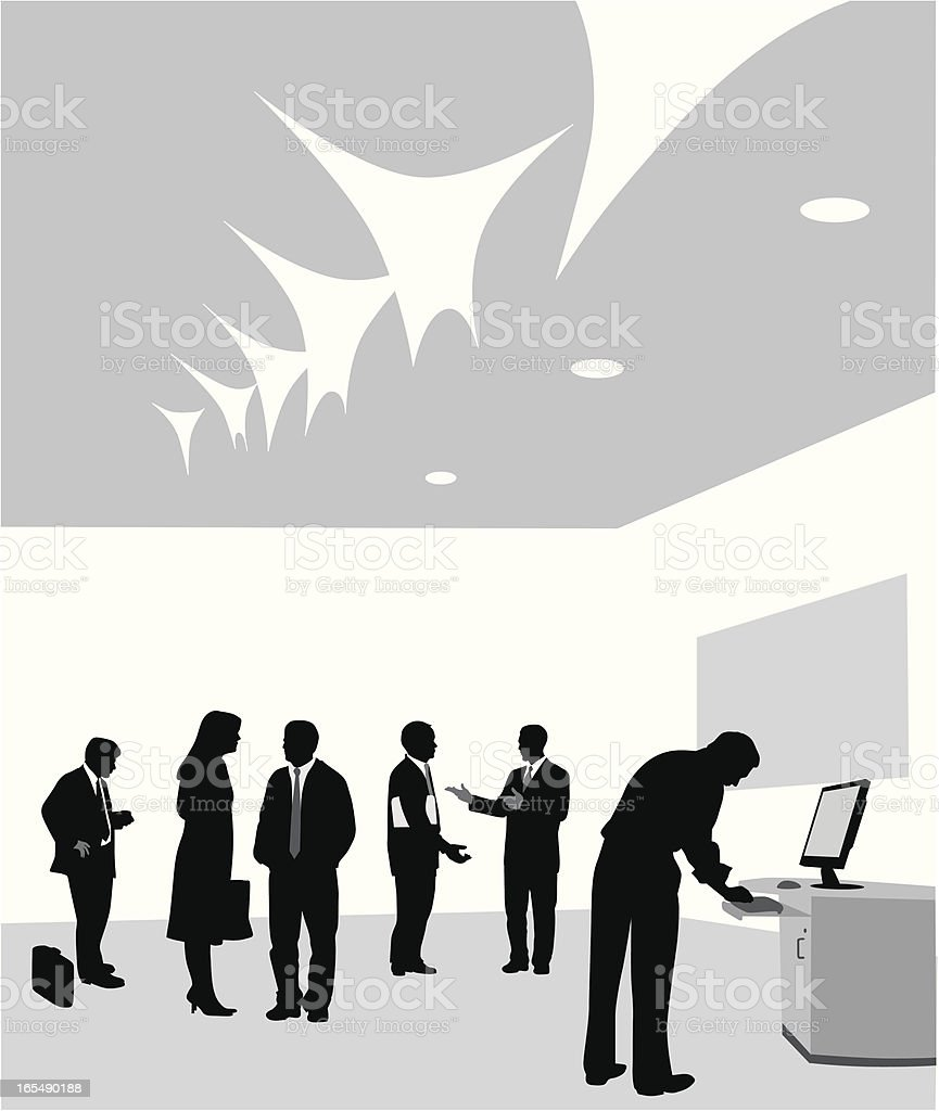 Business Event Vector Silhouette royalty-free stock vector art