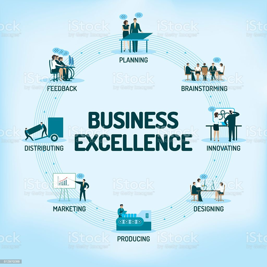 Business Excellence vector art illustration