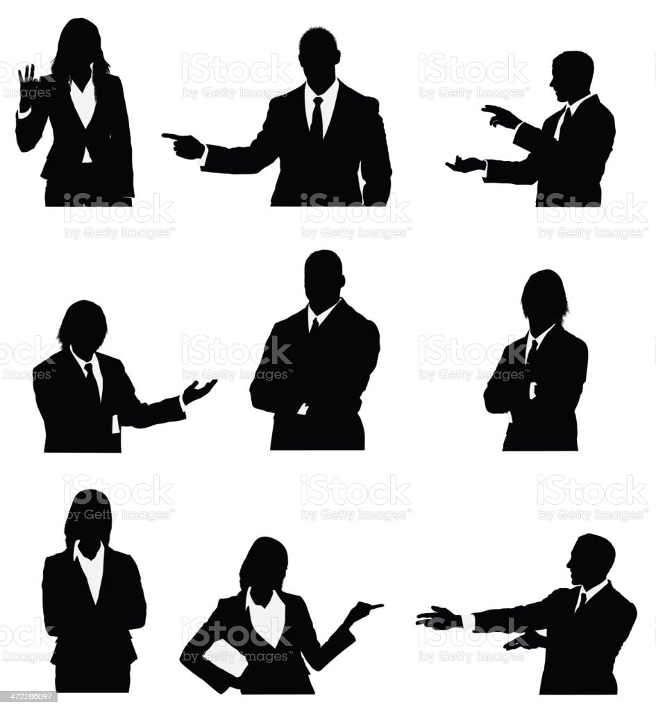 Business executives presenting vector art illustration