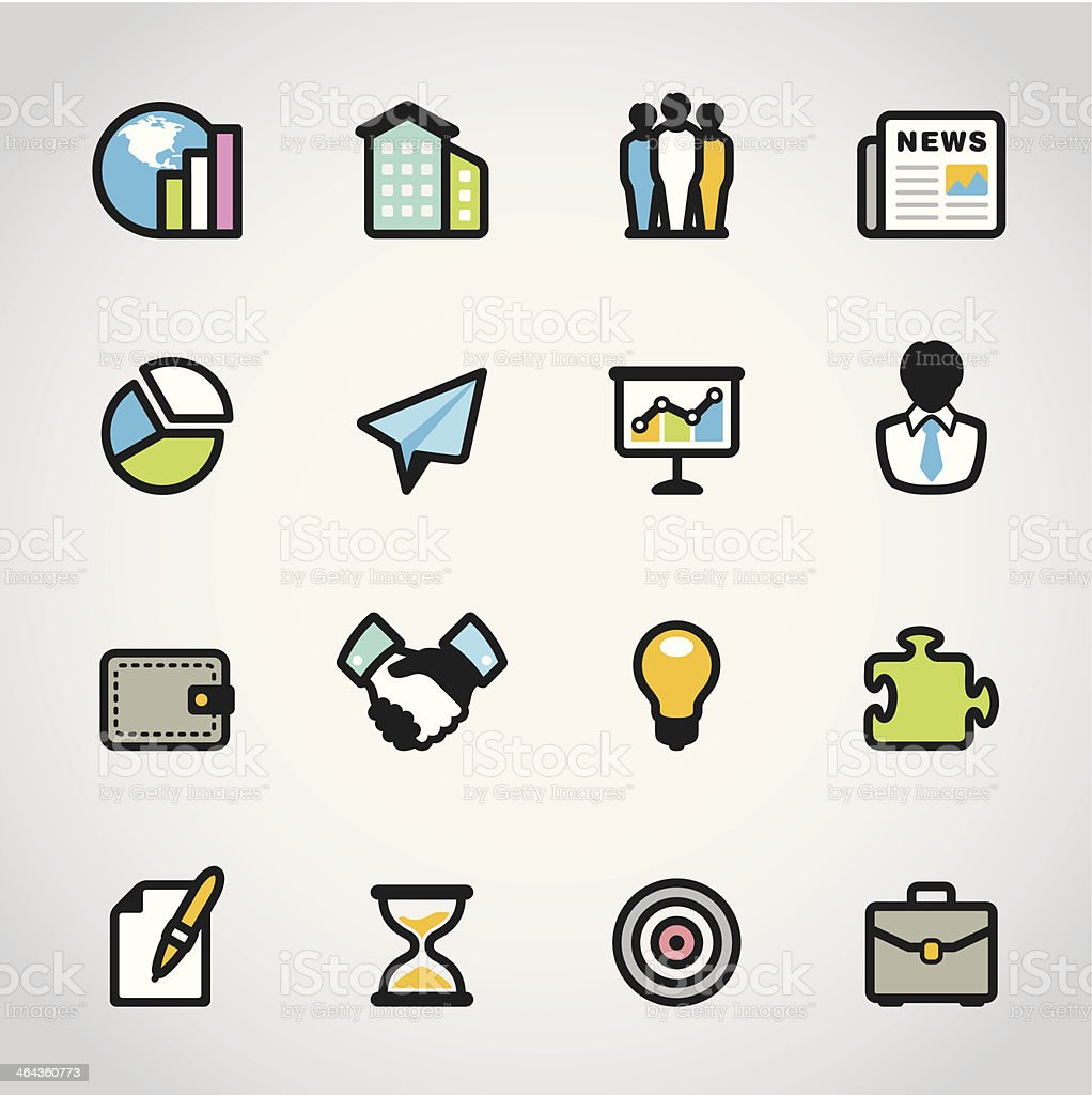 Business / Fabrico icons royalty-free stock vector art