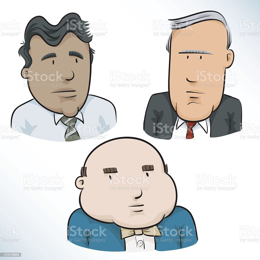 Business Faces royalty-free stock vector art