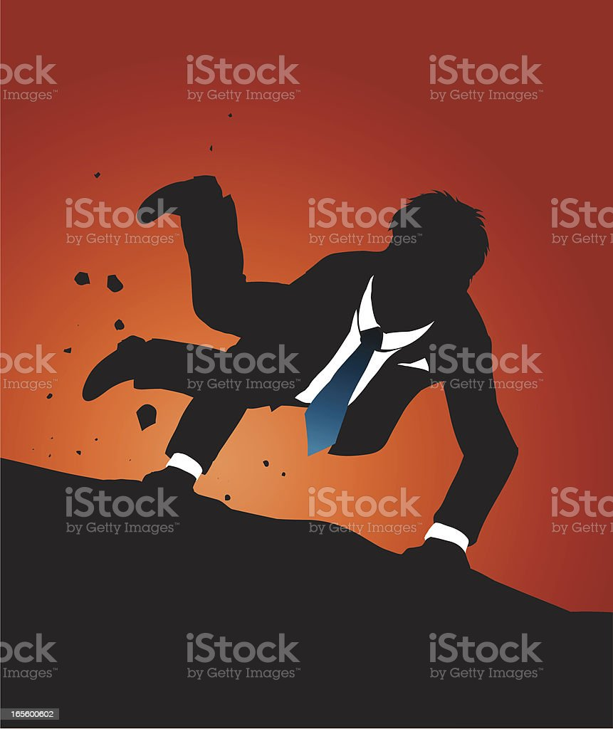 Business falling royalty-free stock vector art