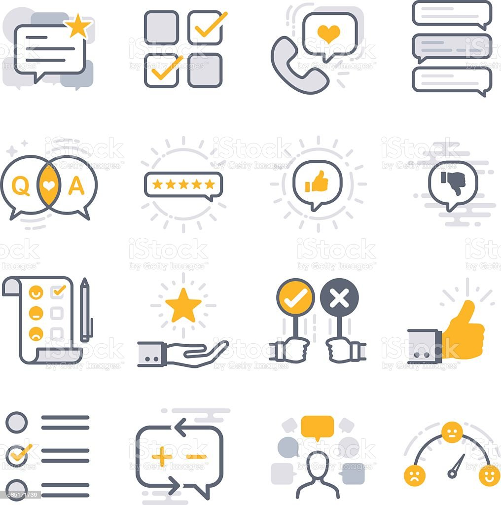 Business feedback icons vector art illustration