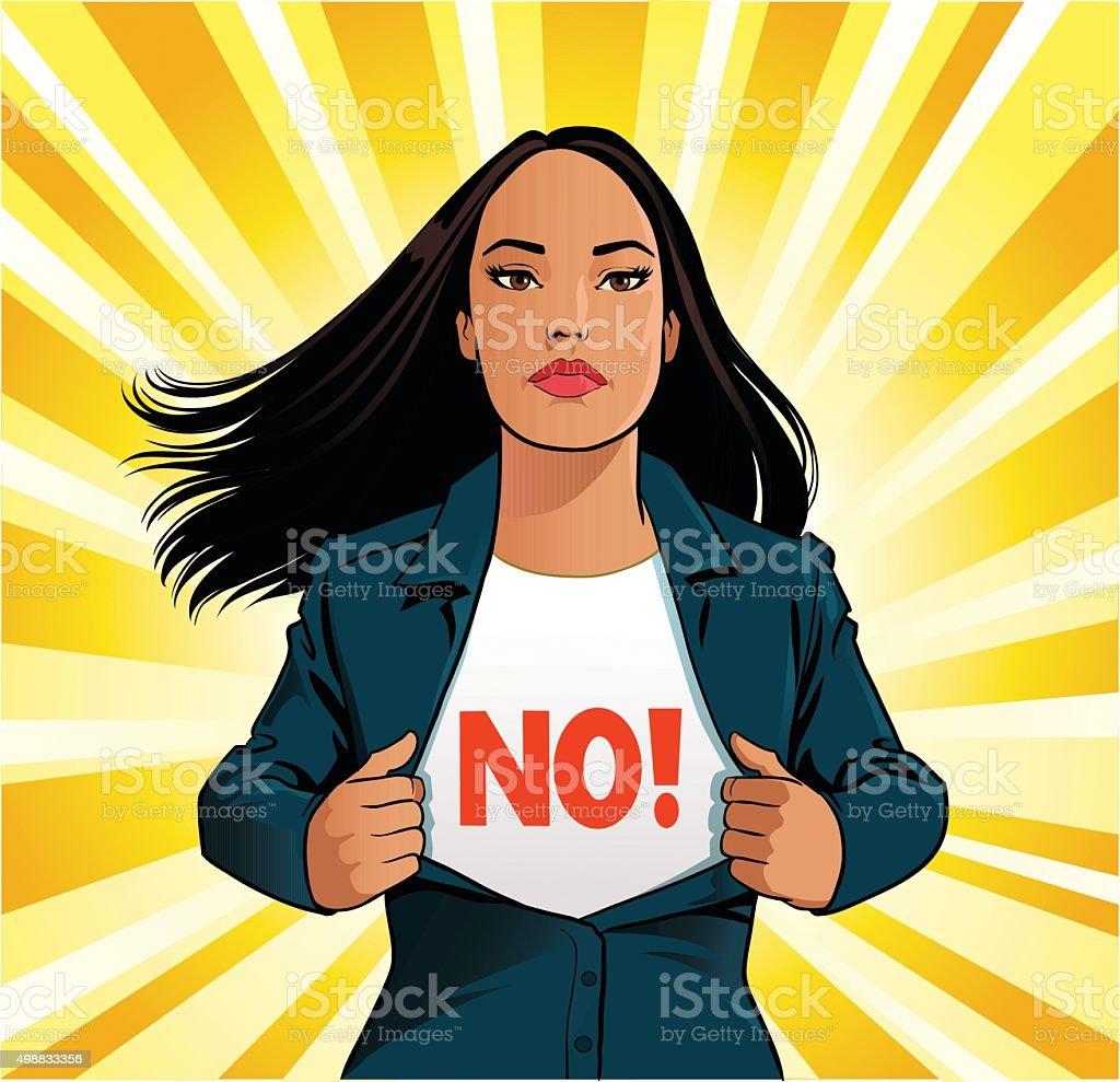 Business Female Superhero vector art illustration