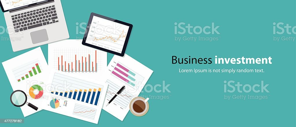 business finance and investment banner concept vector art illustration