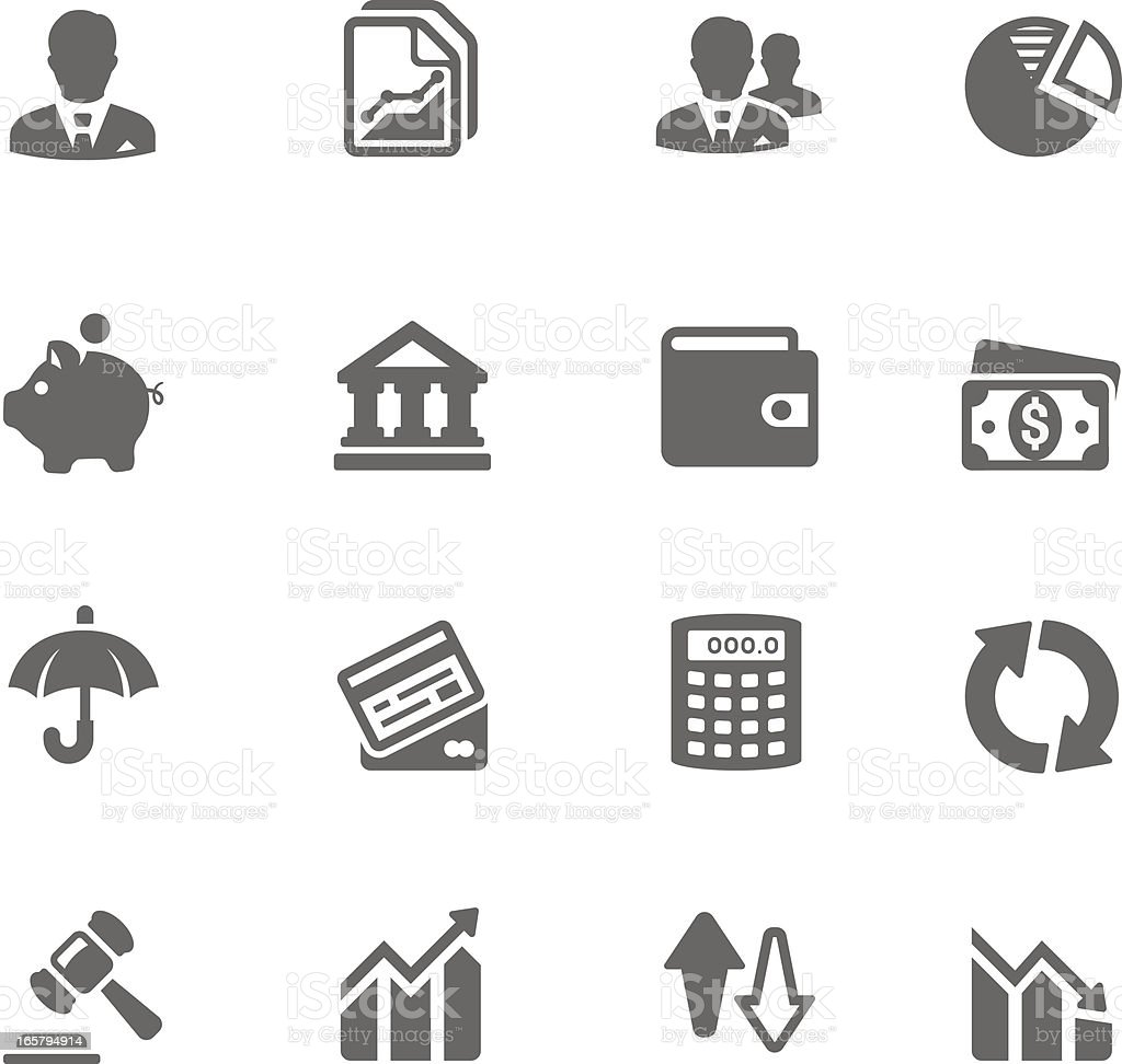 Business & Finance Icon Set | Simplicity2 Series royalty-free stock vector art