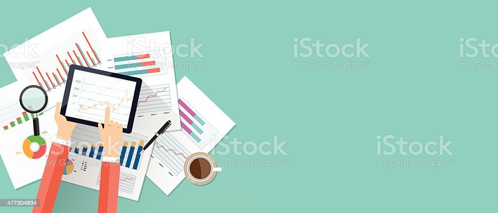 business finance investment background and banner vector art illustration