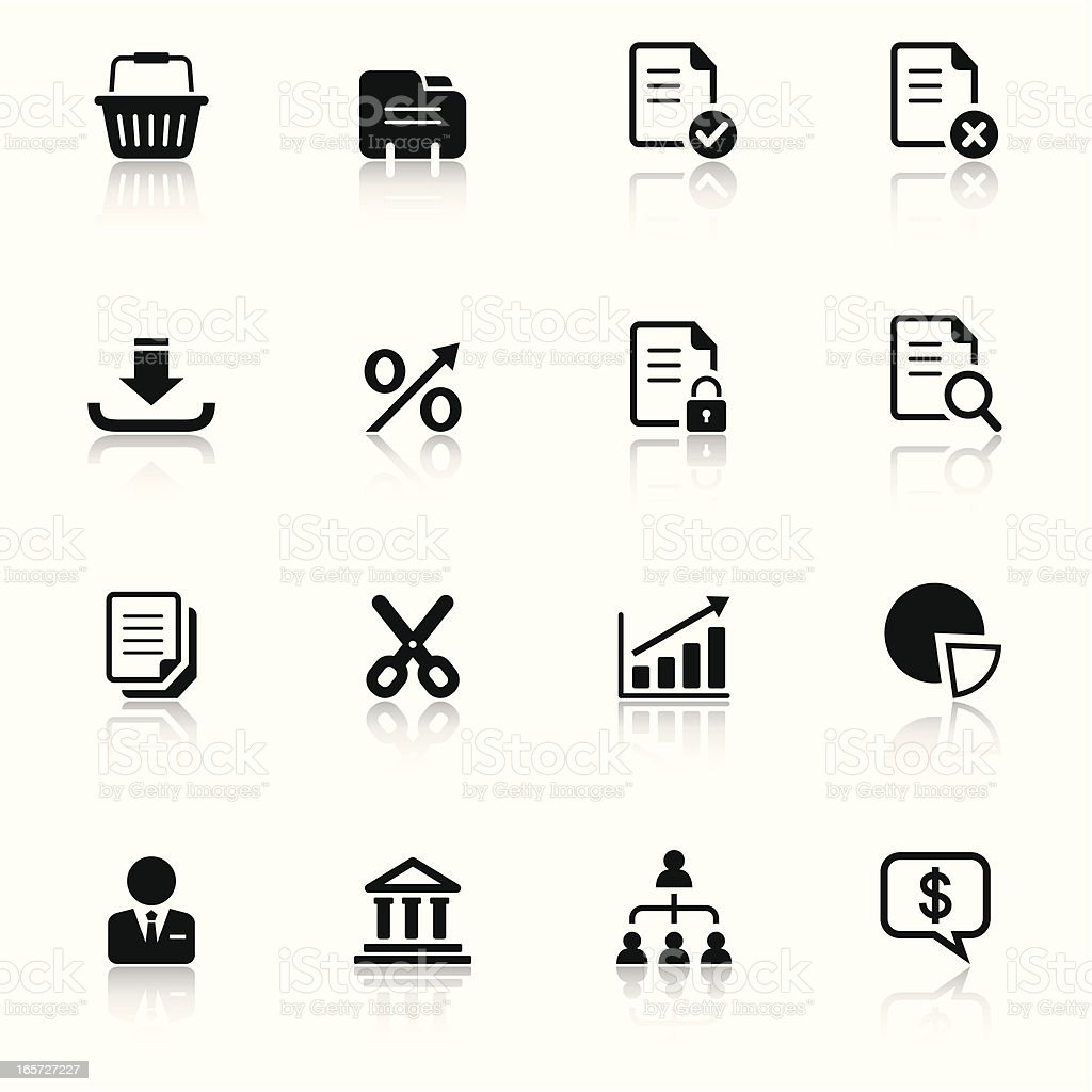 Business & Financial Icons Set royalty-free stock vector art