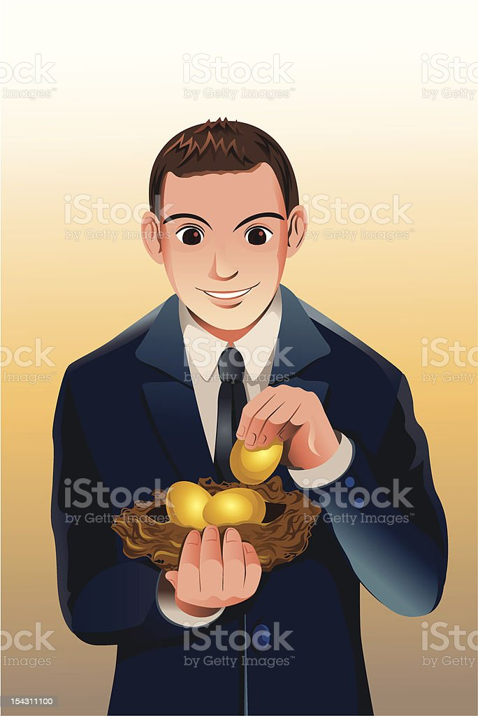 Business financial savings royalty-free stock vector art