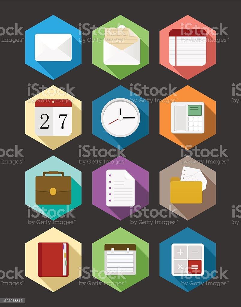 Business flat icons design set vector art illustration