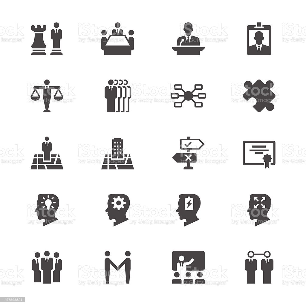 Business flat icons vector art illustration