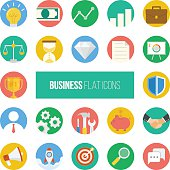 Business Flat Icons.