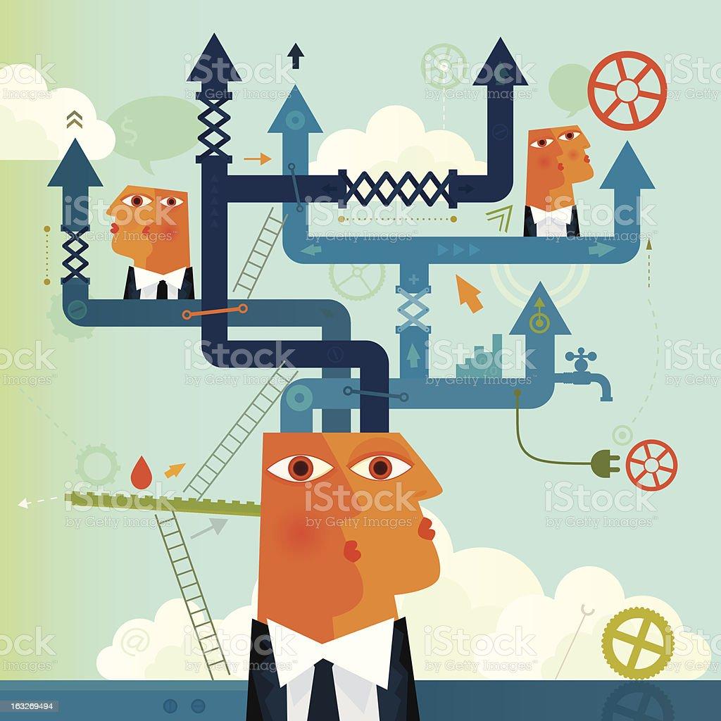 Business Flexibility royalty-free stock vector art