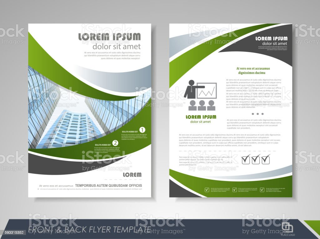 Business flyer cover design royalty-free stock vector art