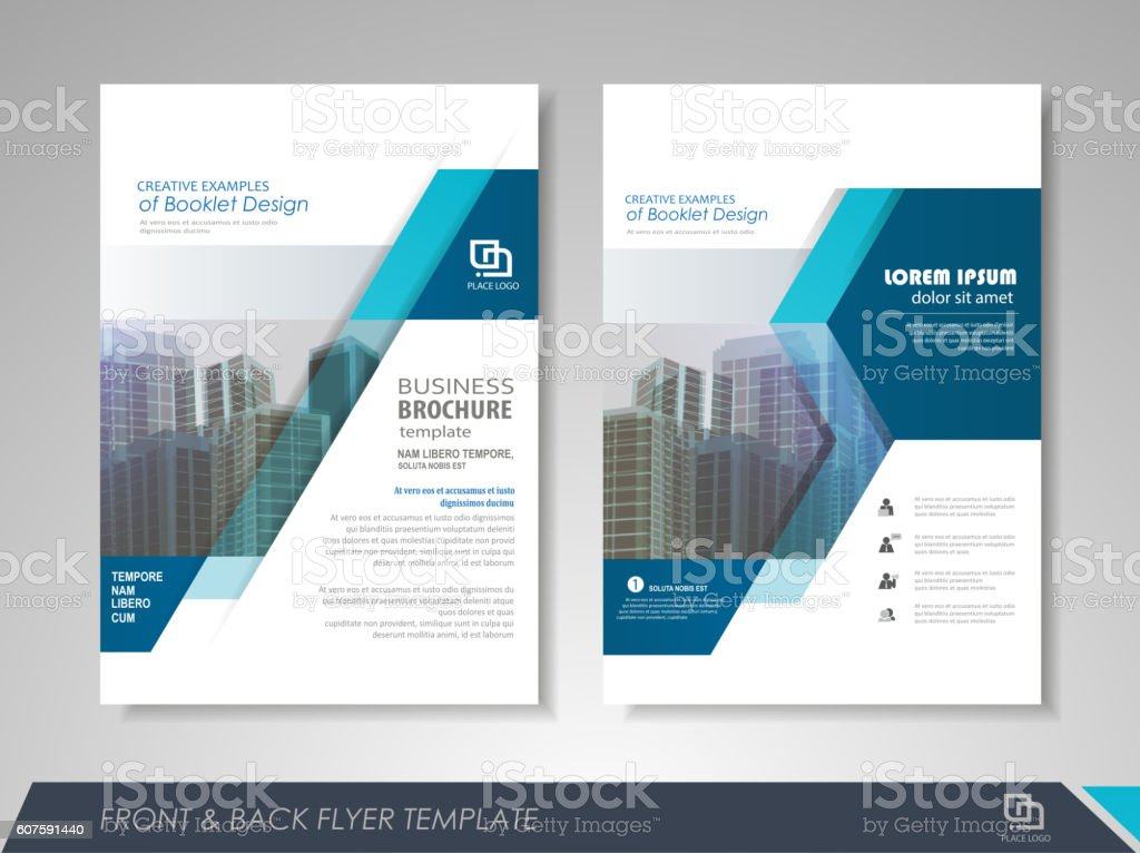 Business flyer presentation vector art illustration