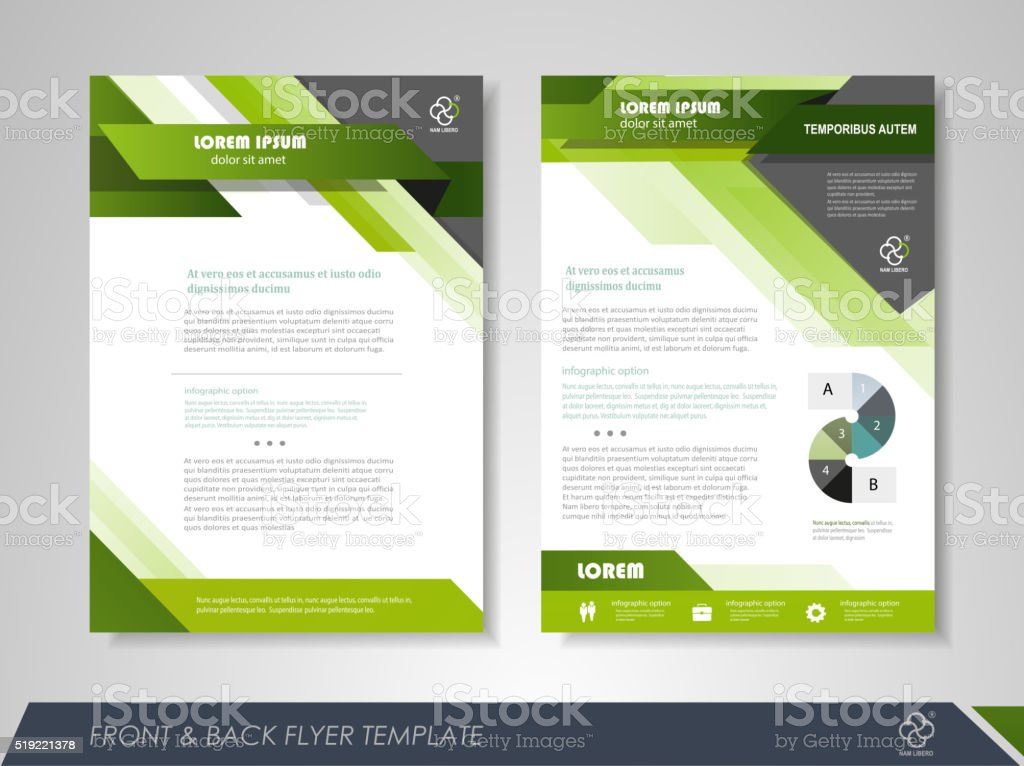 Business flyer template vector art illustration