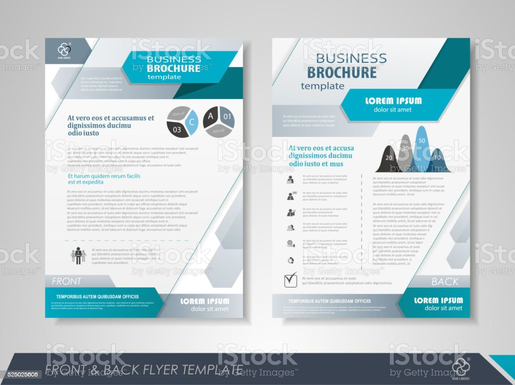 Business flyer vector art illustration