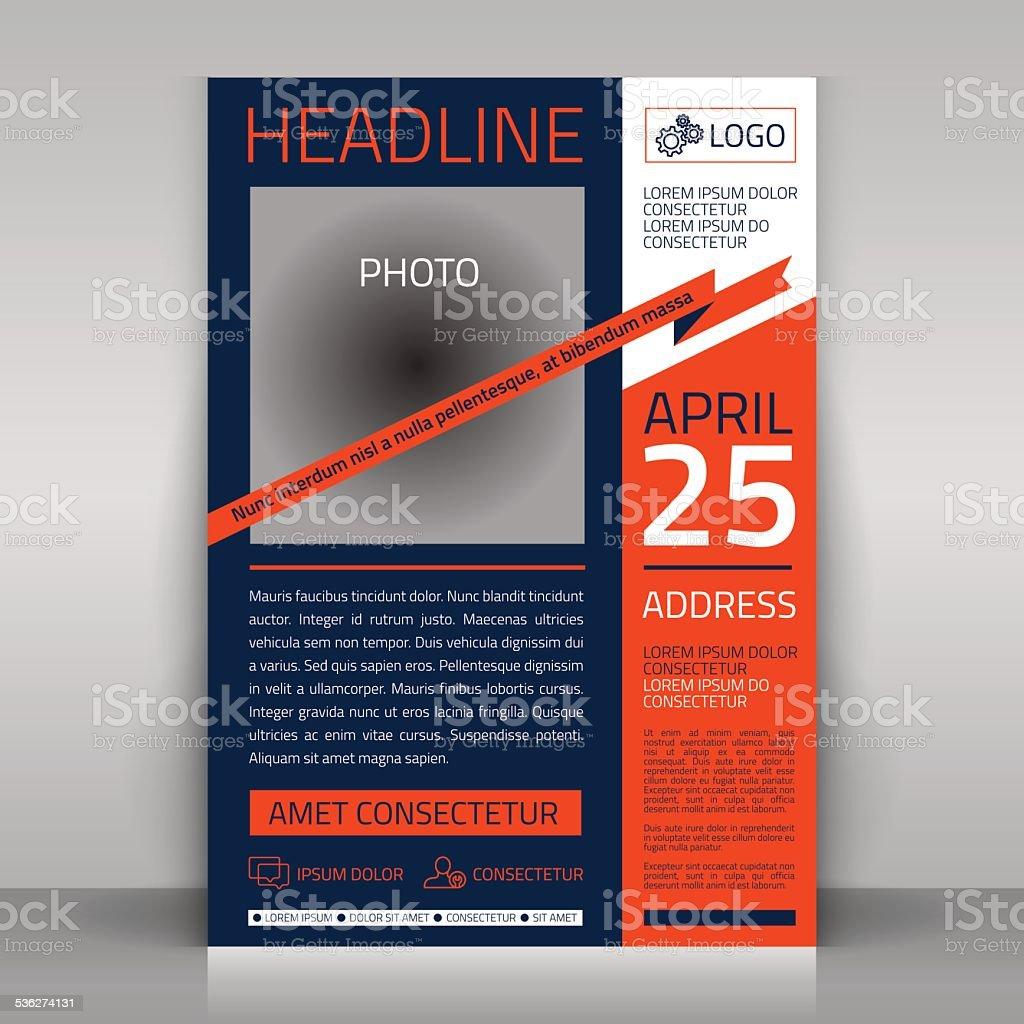 Business flyer. vector art illustration