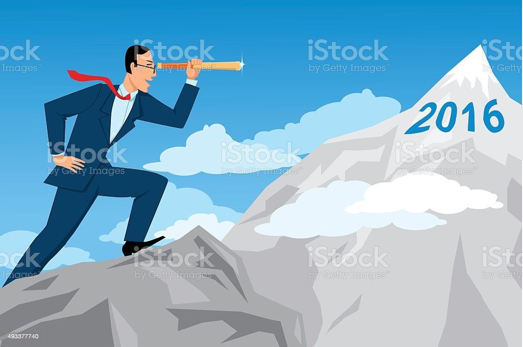Business forecasting vector art illustration
