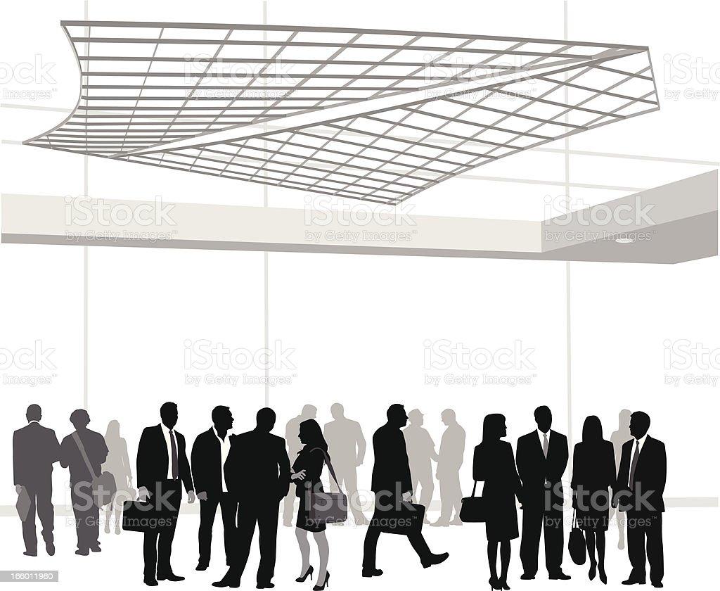 Business Gathering vector art illustration