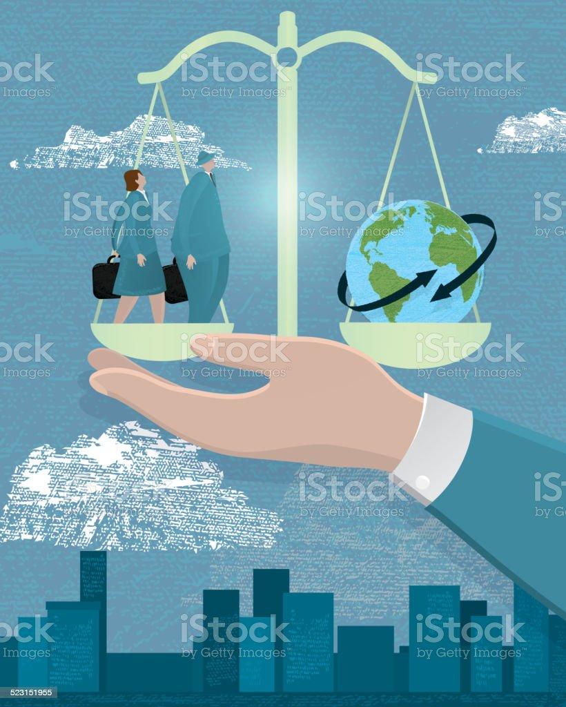 Business global scale concept vector art illustration