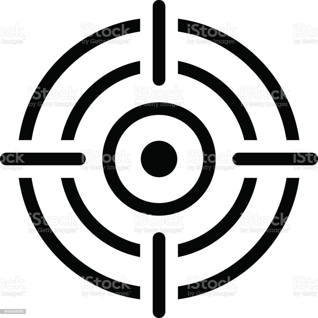 Business Goals Icon. Flat Design. vector art illustration