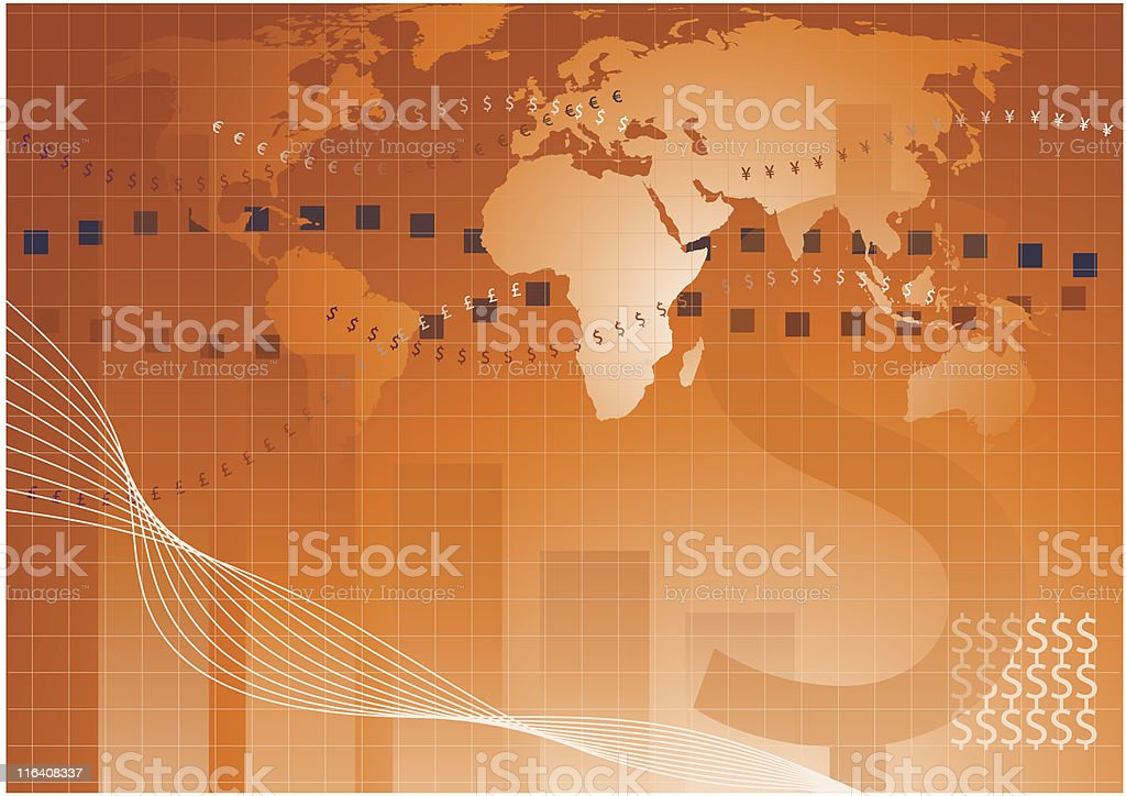 business gold background royalty-free stock vector art
